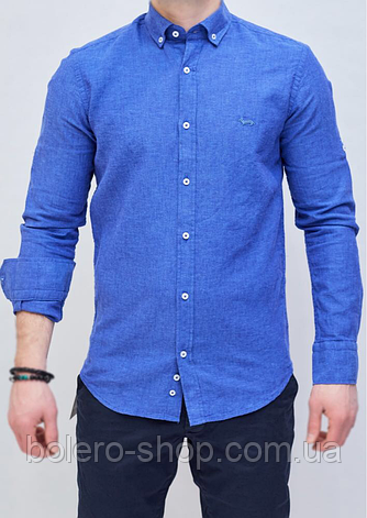 Рубашка мужская синяя Harmont Blaine, фото 2