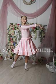 Рейтинговое платье Бейсик для бальных танцев Sevenstore 9120 Нежно розовый