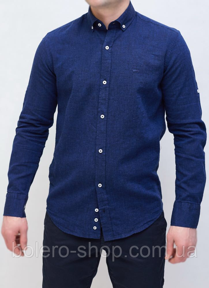 Рубашка мужская темно-синяя Harmony Blaine