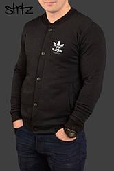 Мужской бомбер Adidas черного цвета