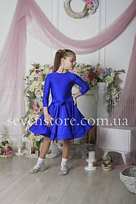 Рейтинговое платье Бейсик для бальных танцев Sevenstore 9120 Електрик