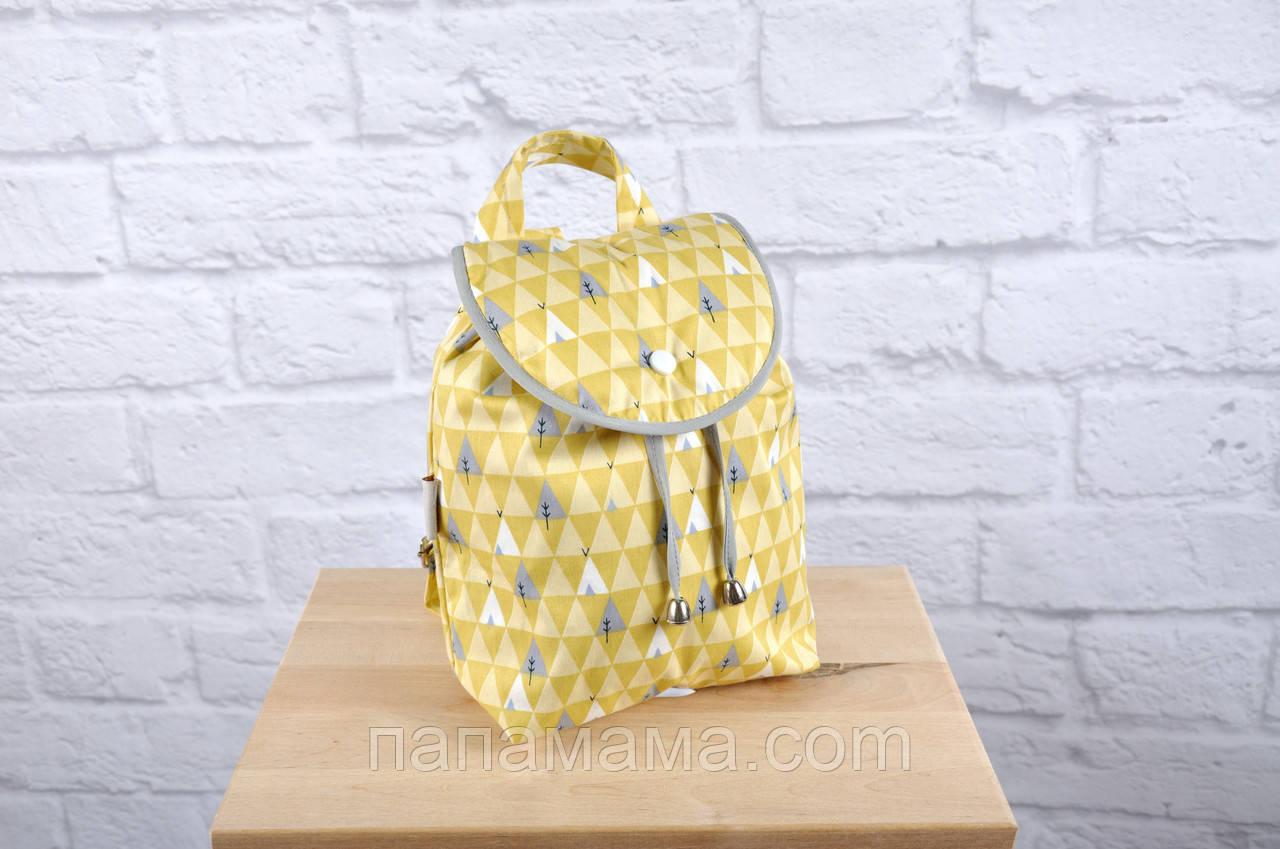 "Детский рюкзак ""Елочки желтые"""