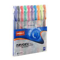 Набор ручек гелевых Unimax Trigel-3 10 цветов 1мм (UX-132-20)