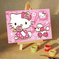 Картина по номерам MENGLEI Розовая Kitti (MA091) 10 х 15 см