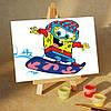 Картина по номерам MENGLEI Спанч Боб на Сноуборде (MA127) 10 х 15 см