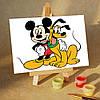 Картина по номерам MENGLEI Микки и Плуто (MA140) 10 х 15 см