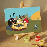 Картина по номерам MENGLEI Angry Birds Пропало яйцо (MA209) 10 х 15 см