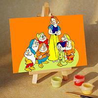 Раскраска по номерам MENGLEI Белоснежка и гномы (MA235) 10 х 15 см