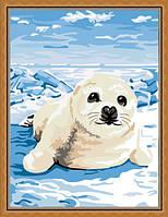 Раскраска по цифрам MENGLEI На льдине (ME093) 30 х 40 см, фото 1