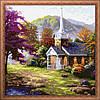 Картина по номерам MENGLEI Дом со шпилем (MF003) 40 х 40 см