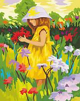 Раскраска по номерам Алиса с цветами (KH022) 40 х 50 см