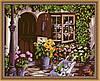 Раскраска по цифрам MENGLEI Уютный цветочный магазин (MG017) 40 х 50 см