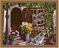 Раскраска по цифрам MENGLEI Уютный цветочный магазин (MG017) 40 х 50 см, фото 1