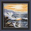 Картина по номерам MENGLEI Морской прибой (MF007) 40 х 40 см