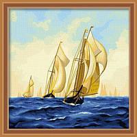 Картина по номерам MENGLEI Парусные лодки (MF012) 40 х 40 см