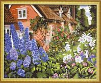 Набор для рисования MENGLEI Цветы у дома (MG014) 40 х 50 см, фото 1
