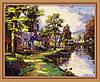 Набор для рисования MENGLEI Озеро Хоумтаун худ. Кинкейд Томас (MG010) 40 х 50 см