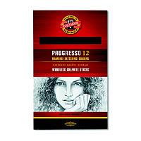 Карандаш графитный Koh-i-noor 2B Progresso бездревесный 8911 2B