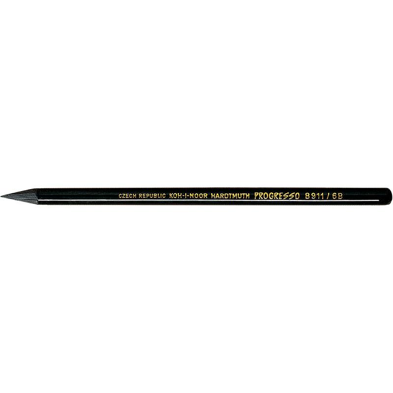 Карандаш графитный Koh-i-noor 6B Progresso бездревесный 8911 6B