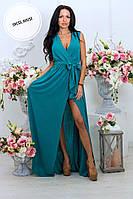 Платье стильное в пол макси двойной мультишифон разные цвета SMSa2229