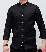 Рубашка мужская черная Harmont Blaine