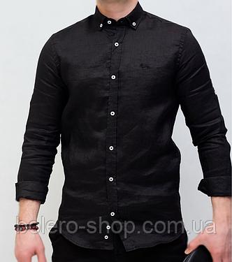 Рубашка мужская черная Harmont Blaine, фото 2