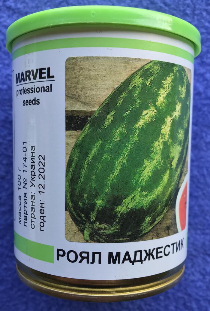 Семена арбуз 100 гр сорт Роял Маджестик в банке