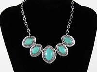 Ожерелье бижутерия с камнями