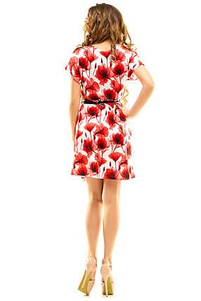 Платье 412  с ремнем красное размер 46-48, фото 2