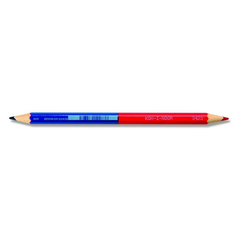 Карандаш цветной Koh-i-noor красно-синий грифель 3.8мм 3423