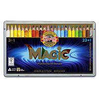 Карандаши цветные Koh-i-noor Magic 24цв в метал.пенале (340802)