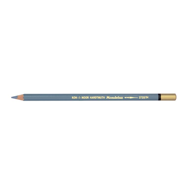 Карандаш акварельный Koh-i-noor Mondeluz голубоватый светло-серый bluish grey light (3720/34)