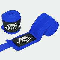 Бинты бокс (2шт) хлопок с эластаном VENUM VL-5778-3,5(BL) (l-3,5м, синий)
