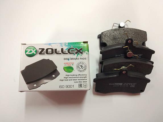 Колодки передние (2110) ZOLLEX Z2110F, фото 2