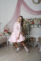 Рейтинговое платье Бейсик для бальных танцев Sevenstore 9103 Нежно розовый
