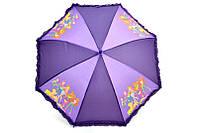 Сиреневый зонт с рюшами винкс