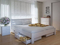 Кровать MeblikOff Эко плюс с ящиками (140*190) дуб