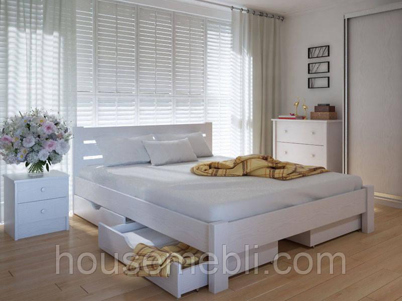 Кровать MeblikOff Эко плюс с ящиками (140*200) дуб