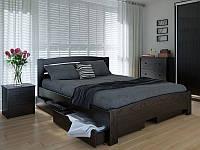 Кровать MeblikOff Грин с ящиками (160*200) дуб