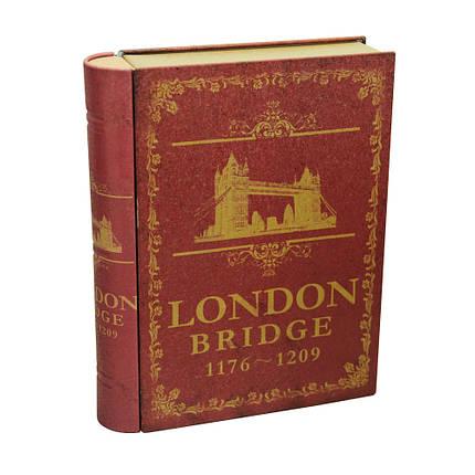 Банка-книжка для хранения мелочей и сыпучих продуктов Лондон, 20х15,5х4см, , фото 2