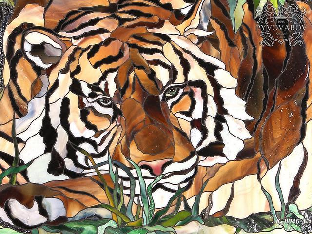витражная картина Тигр