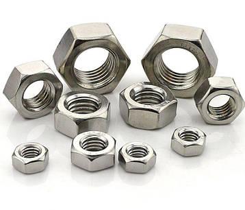 Гайка нержавеющая М48 DIN 934 (ГОСТ 5915-70, ГОСТ 5927-70) сталь А2 и А4, фото 2