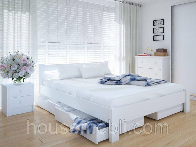 Кровать MeblikOff Эко с ящиками (180*200) ясень