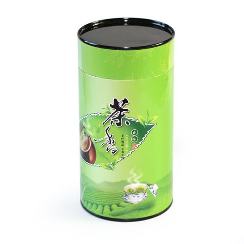 Бумажная банка для сыпучих продуктов Зеленый чай, 100г ( контейнер для чая )