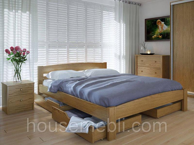 Кровать MeblikOff Скай с ящиками (180*190) ясень