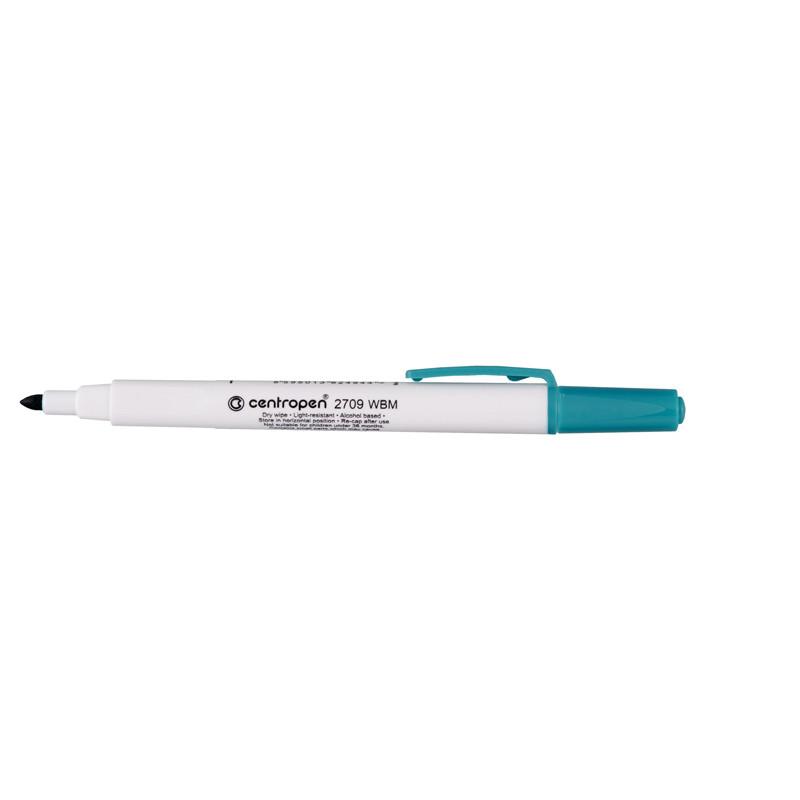 Маркер для досок Board Centropen 1-2 мм круглый зеленый 2709/04