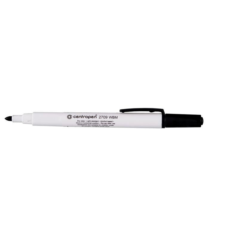 Маркер для досок Board Centropen 1-2 мм круглый черный 2709/01