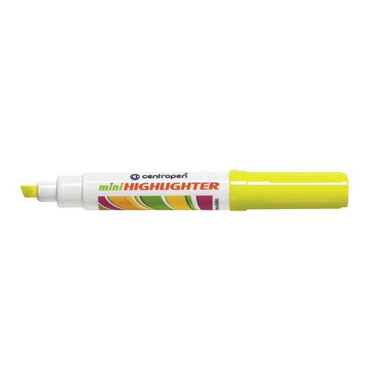 Маркер текстовыделитель Fax Centropen 1-4.6 мм скошенный желтый 8052/05