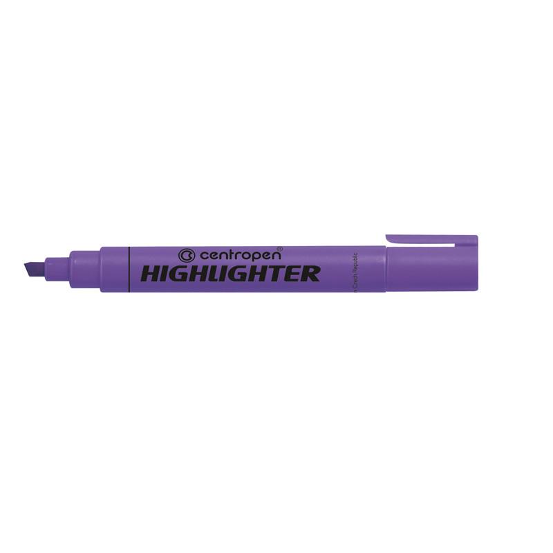 Маркер текстовыделитель Fax Centropen 1-4.6 мм скошенный фиолететовый 8852/08
