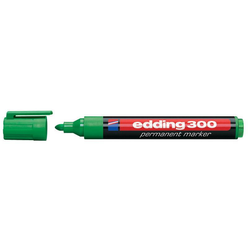 Маркер перманентный Permanent Edding 1.5-3 мм круглый зеленый e-300/04